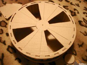 Беговое колесо для хомяка, сделано вручную
